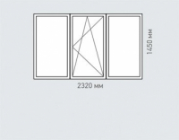 Окно трехстворчатое Melke Evolution 70