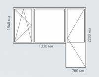 Балконный блок Melke Evolution 70