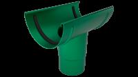 Воронка желоба LINKOR (2 уплотнителя EPDM ,2 паза) 120 мм (алюминий толщина 2 мм)RAL 6005