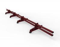 Снегозадержатель D-Bork для м/ч оцинкованный 3 м 4 опоры RAL 3005
