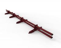 Снегозадержатель D-Bork для фальца оцинкованный 3 м 4 опоры RAL 3005