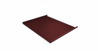 Фальц двойной стоячий 0,45 PE с пленкой на замках RAL 3009 оксидно-красный