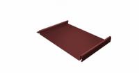 Кликфальц 0,45 PE с пленкой на замках RAL 3009 оксидно-красный