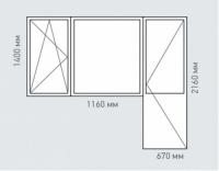 Балконный блок Rehau Brillant для домов серии п-3