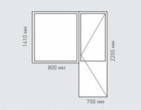 Балконный блок REHAU Estet для дома серии I-515-9М