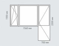 Балконный блок REHAU Estet для дома серии I-491-A