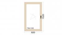 Алюминиевое окно серия 65 (теплое) 920*1520