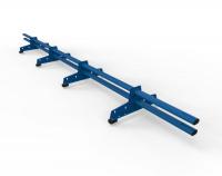 Снегозадержатель D-Bork для м/ч оцинкованный 3 м 4 опоры RAL 5005