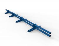 Снегозадержатель D-Bork для фальца оцинкованный 3 м 4 опоры RAL 5005