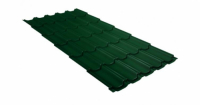 Металлочерепица квинта плюс Grand Line 0,5 Velur20 RAL 6005 зеленый мох