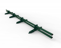 Снегозадержатель D-Bork для фальца оцинкованный 3 м 4 опоры RAL 6005