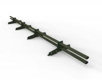 Снегозадержатель D-Bork для фальца оцинкованный 3 м 4 опоры RAL 6020