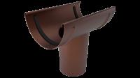 Воронка желоба LINKOR (2 уплотнителя EPDM ,2 паза) 150 мм (алюминий толщина 2 мм)RAL 8017