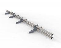 Снегозадержатель D-Bork для фальца оцинкованный 3 м 4 опоры RAL 7004
