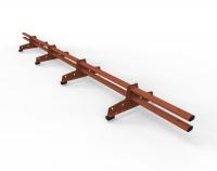 Снегозадержатель D-Bork для м/ч оцинкованный 3 м 4 опоры RAL 8004