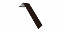 Планка лобовая/околооконная простая 190х50 0,5 Satin с пленкой RAL 8017 шоколад