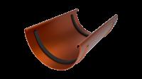 Соединитель желоба LINKOR 120мм (алюминий толщина 2 мм) RAL 8004