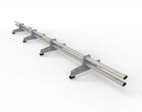 Снегозадержатель D-Bork для м/ч оцинкованный 3 м 4 опоры RAL 9006
