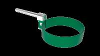 Хомут крепления трубы LINKOR Ø 100 мм штырь L=120мм (сталь 1 мм)RAL 6005