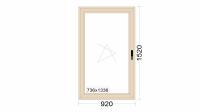 Алюминиевое окно серия 72 (теплое) 920*1520