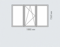 Окно трехстворчатое REHAU Estet для дома серии ||-49