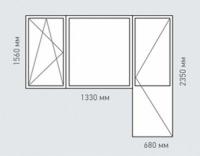 Балконный блок Rehau  Delight для домов серии ||-49